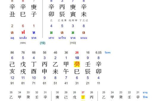 คำศัพท์เกี่ยวกับดวงจีน