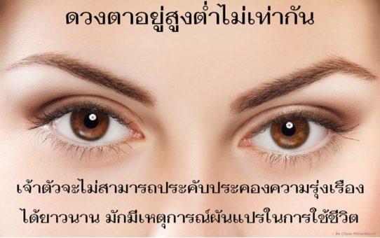 มารู้จักนิสัยคนจากโหงวเฮ้งดวงตากัน (2/3)